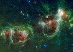 Coração e Alma - Nebulosas de Cassiopéia - Fotos com luz infra vermelha