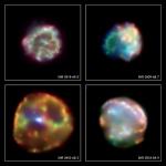 restos de supernovas na Grande Nuvem de Magalhães - telescópio Chandra